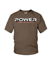 Power the perfect mind in healthy body Youth T-Shirt front