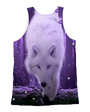 I LOVE WOLF All-over Unisex Tank back