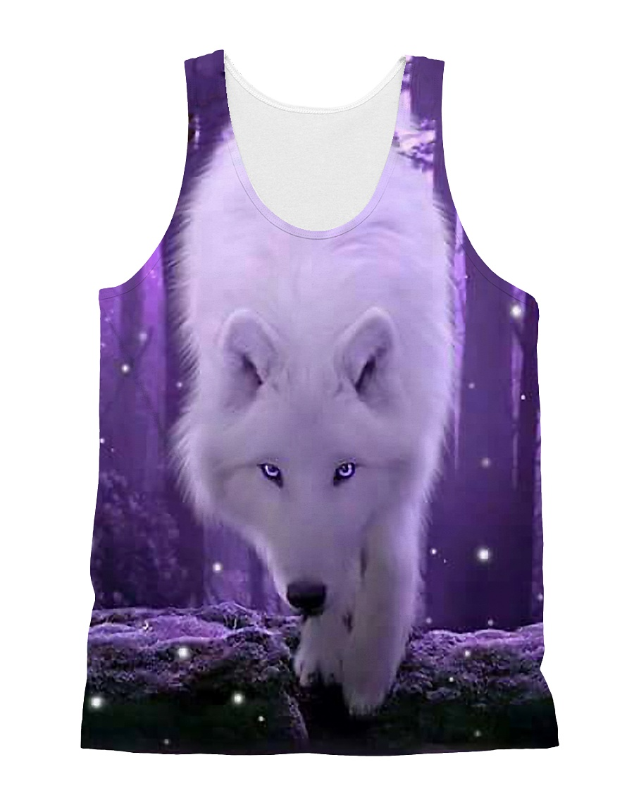 I LOVE WOLF All-over Unisex Tank