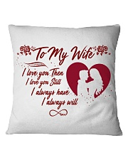 TO MY WIFE Square Pillowcase thumbnail