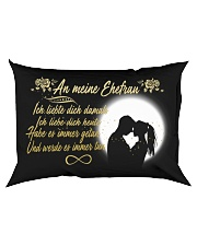 TO MY WIFE - GERMAN Rectangular Pillowcase back