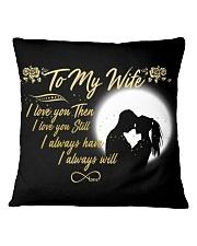 TO MY WIFE Square Pillowcase thumbnail