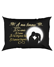 TO MY WIFE -- FRENCH Rectangular Pillowcase back