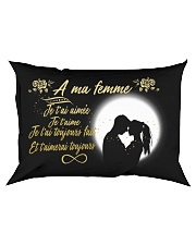 TO MY WIFE -- FRENCH Rectangular Pillowcase front