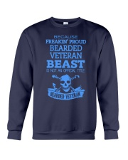 BEARDED VETERAN Crewneck Sweatshirt thumbnail