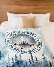 """Gift Large Fleece Blanket - 60"""" x 80"""" aos-coral-fleece-blanket-60x80-lifestyle-front-02"""