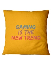 GAMING IS THE NEW TREND Square Pillowcase thumbnail