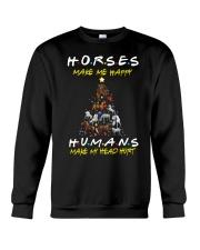 Horses Make Me Happy - Christmas 2019 Crewneck Sweatshirt thumbnail