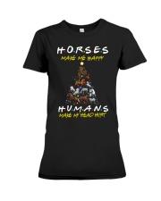 Horses Make Me Happy - Christmas 2019 Premium Fit Ladies Tee thumbnail