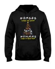 Horses Make Me Happy - Christmas 2019 Hooded Sweatshirt thumbnail