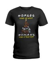 Horses Make Me Happy - Christmas 2019 Ladies T-Shirt thumbnail