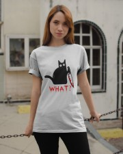Cat What  Murderous Black Cat With Knife Halloween Classic T-Shirt apparel-classic-tshirt-lifestyle-19