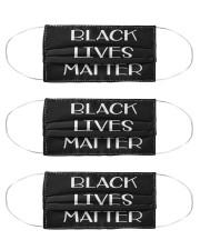 Black Lives Matter Face mask t shirt Cloth Face Mask - 3 Pack front