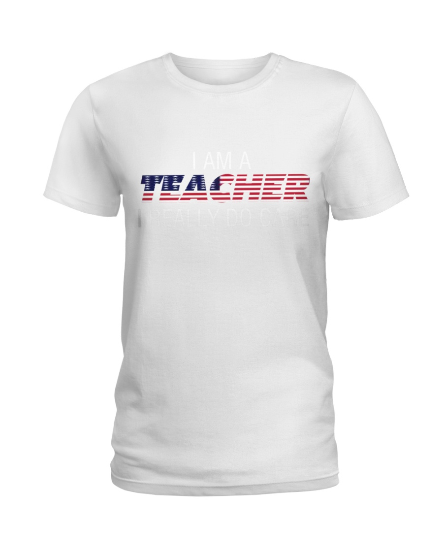 Ltd Edition Teachers really DO CARE Ladies T-Shirt