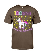 100 days of school magical learning cool t shirt Classic T-Shirt thumbnail