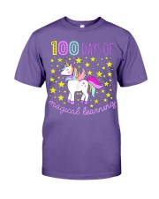 100 days of school magical learning cool t shirt Premium Fit Mens Tee thumbnail