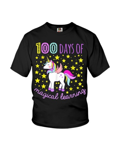 100 days of school magical learning cool t shirt