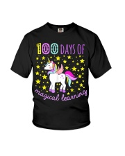 100 days of school magical learning cool t shirt Youth T-Shirt front