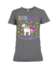 100 days of school magical learning cool t shirt Premium Fit Ladies Tee thumbnail