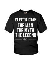The Electrician - The MAN -THE MYTH - THE LEGEND Youth T-Shirt thumbnail