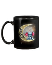 I love you to the moon and back Cute elephant Mug back