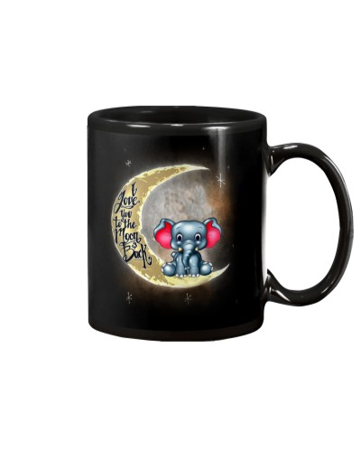 I love you to the moon and back Cute elephant