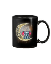 I love you to the moon and back Cute elephant Mug front