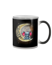 I love you to the moon and back Cute elephant Color Changing Mug thumbnail