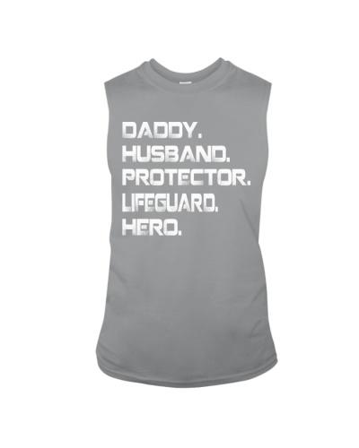 Daddy Husband Protector Lifeguard hero t shirt
