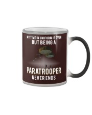 being a Paratrooper never ends Color Changing Mug thumbnail