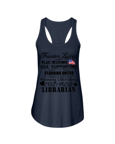 Librarian freedom loving flag waving USA supportin