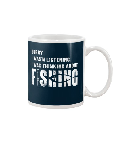 sorry I wasnt listening fishing funny mug