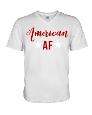 American AF for independence day t shirt V-Neck T-Shirt thumbnail