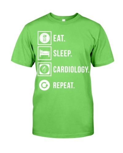 Cardiologist eat sleep cardiology repeat