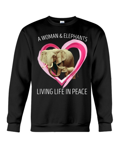 Elephant living life in peace
