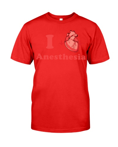 Anesthesiologist I heart Anesthesia shirt