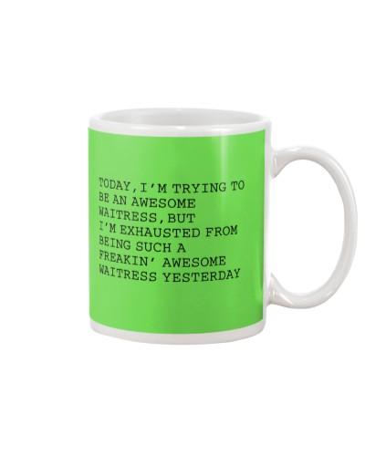 Waitress funny mug