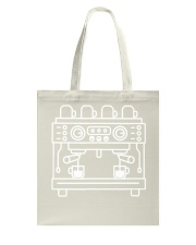 Double Espresso Machine Barista Tote Bag thumbnail