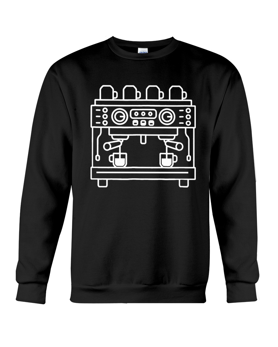 Double Espresso Machine Barista Crewneck Sweatshirt