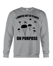 Paratrooper jumped out of planes Crewneck Sweatshirt thumbnail