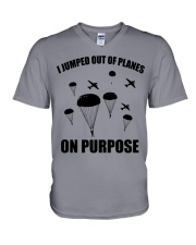 Paratrooper jumped out of planes V-Neck T-Shirt thumbnail
