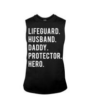 Lifeguard Husband Daddy Protector Hero Sleeveless Tee thumbnail
