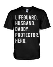 Lifeguard Husband Daddy Protector Hero V-Neck T-Shirt thumbnail