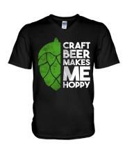 CRAFT BEER HOPPY V-Neck T-Shirt thumbnail
