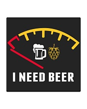 I NEED BEER Square Coaster tile