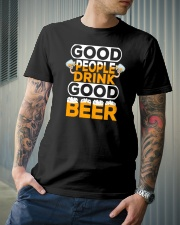 GOOD PEOPLE DRINK GOOD BEER Classic T-Shirt lifestyle-mens-crewneck-front-6