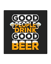 GOOD PEOPLE DRINK GOOD BEER Square Coaster thumbnail