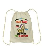 Funny Mug For Golden Retriever Lover Drawstring Bag tile