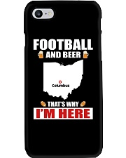 FOOTBALL AND BEER THAT'S WHY I'M HERE Phone Case thumbnail