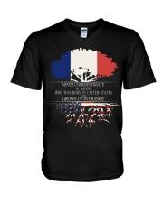 Never underestimate a man US FRA V-Neck T-Shirt thumbnail